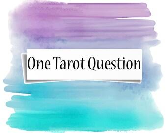 One Tarot Question/3 card