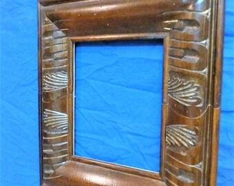 Walnut carved frame Carved wood frame