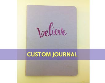 Custom Calligraphy Kraft Art Journal