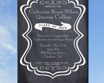 Chalkboard Graduation Party Invite