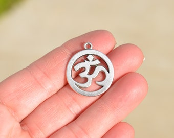 5  Silver Tone OM Charms SC2413