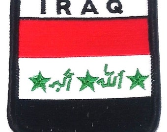 Iraq Embroidered Patch