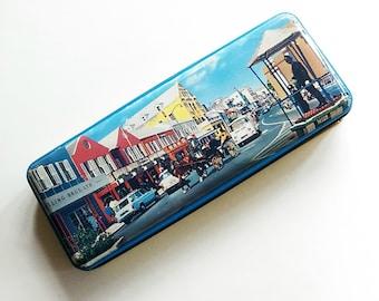 Vintage Gosling Bros Ltd Scenic Retro British Bahamas Tin  / 60's Tin's / Retro / Pencil Tin / Storage Box / Vintage Home Goods/ Decor