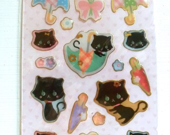 Black Pussy Cat 3D Stickers