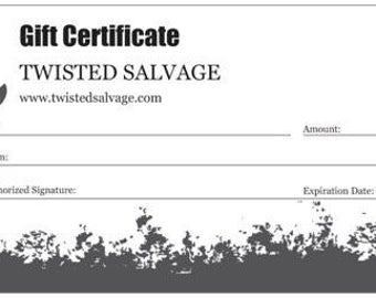 Twisted Salvage Gift Voucher