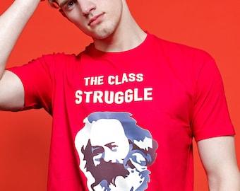 ALLRIOT Class Struggle is Real - Funny Karl Marx Political Meme T-shirt