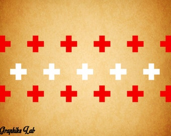 Swiss Cross Wall Decal Swiss Medical Vinyl Wall Decal