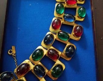 RARE 1937 Signed Monet Jewelers Bracelet