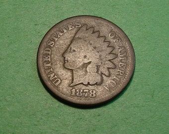 1878 Indian Head Cent Good  <> The Coin you see is the coin you get <> Free S.H. to U.S.<> Insurance Included in SH <>ET9993