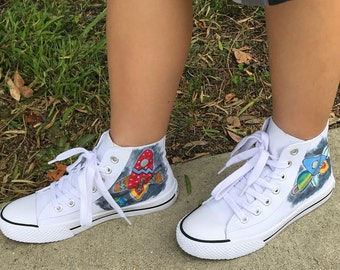 Space Adventures high top tennies shoes
