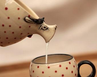 Little cow milk jug