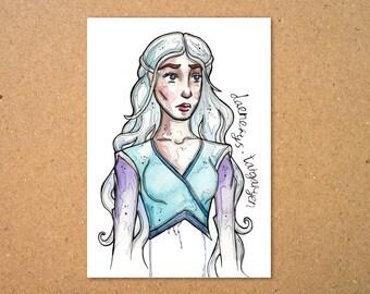 Original Daenerys Targaryen Illustration