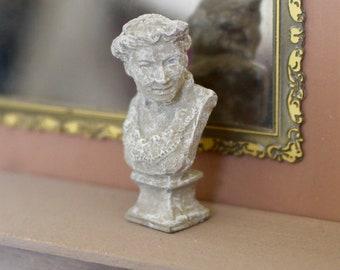 Dolls HouseMiniature Victorian Lady Bust Statue