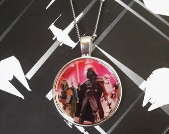 "1"" Darth Vader, Boba Fett and storm trooper necklace"