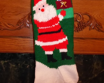 "Knitted Christmas Stocking Pattern - ""Gifts from Santa"""