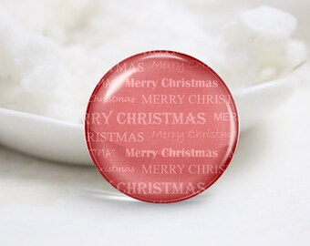 Handmade Round Christmas Photo Glass Cabochons (P3584)