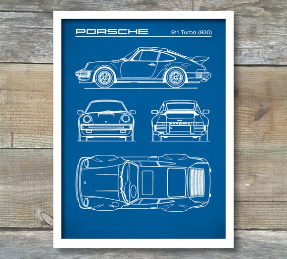 Patent prints gift for dad wall art car art porsche 911 malvernweather Gallery