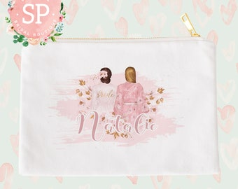Custom Maid of Honor Cosmetic Bag | Maid of Honor Gift | Bridal Party Gift | Customizable Bridal Party Gift | Unique Wedding Gift Idea