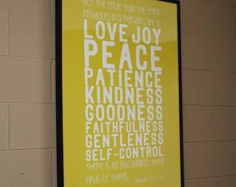 Galatians 5:22-23 Large Movie Poster-Sized Print   Scripture Wall Art   Bible Wall Art   Scripture Subway Art