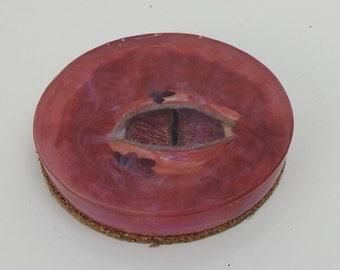 Handmade Dragon Eye Resin Coaster One Coaster Red Purple Hue