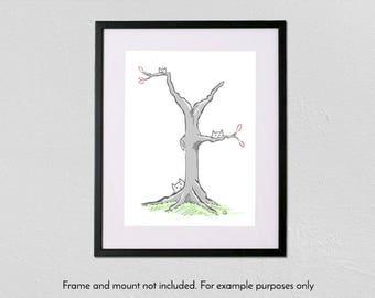 Tree of Cats - A4 fine art giclée print