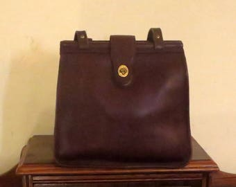 Dads Grads Sale Coach Weston Shopper In Mahogany Leather With Brass Hardware- Style No 9021-Made In The United States- VGC