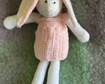 Hand knit Easter bunny
