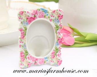 Vintage, Porcelain Frame by Norcrest - Japan, Little Princess Bedroom Decor, Gifts for Her