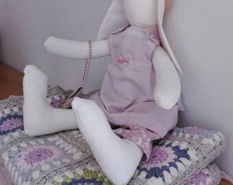 Shabby chic cloth bunny, Tilda Bunny.