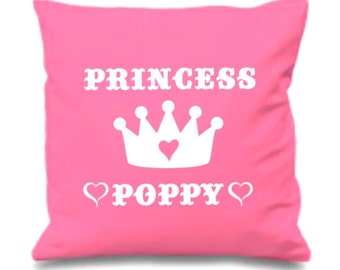 Princess Pillow Personalized, New Baby Gift, Custom Baby Gift, Christening Gift, Nursery Decor, Girl Birthday, Choose Your Color/Colour.