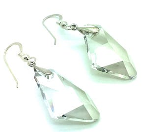 Crystal Clear To Me,Sterling Earrings,Sterling Silver Earrings,Swarovski Crystals,Goes With Anything Jewelry,Neutral,Gift for Her,Crystals