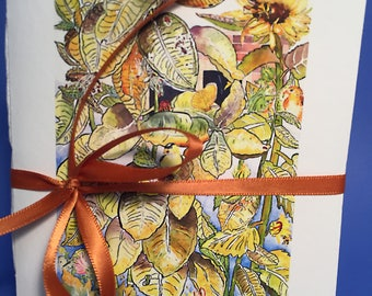 Mini Writing Journal, by Michelle Kogan, Books, Journals, Lined, Art & Collectibles, Notebooks, Watercolor, Painting, Drawing Illustration