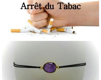 """Stop smoking"" Bracelet: the Amethyst"