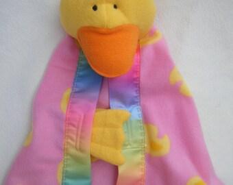 Handmade Duck Blanket Buddie - Security Blanket - HANDMADE BY ME