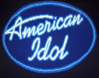 American Idol - Hand Made Crocheted Afghan - BRAND NEW