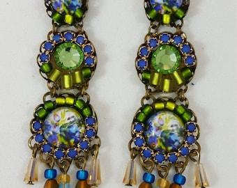 Happy Blue Green Earrings