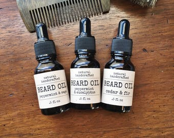 Beard Oil - All Natural, Essential Oils, For Him, Gift Idea