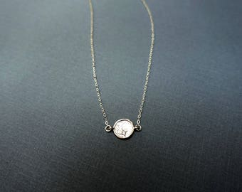 Silver Necklace + Silver Disc Necklace + Sideways Necklace + Coin Necklace + Hammered Disc Necklace + CZ Necklace + Delicate necklace + M3