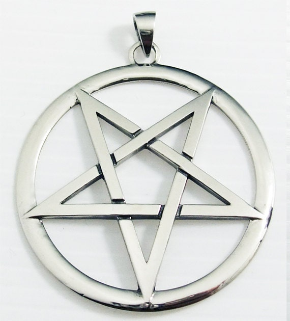 Inverted pentagram pendant aloadofball