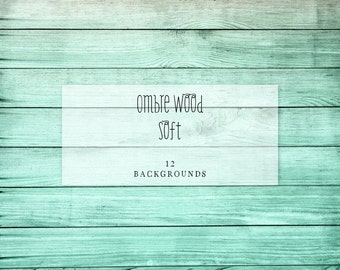 "Ombre Wood Backgrounds | 12 Digital Papers | Instant Download | 12"" x 12"""