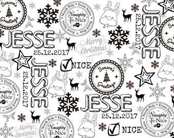 Custom Printable Christmas Gift Wrapping Paper