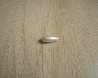 olive white plastic pearl beads