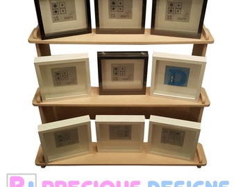 3 Teir wood Display Stand Ribba frames shelves for markets Exhibitions storage