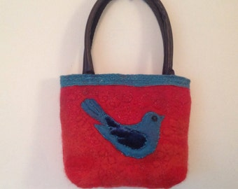 Handmade wool felt bag