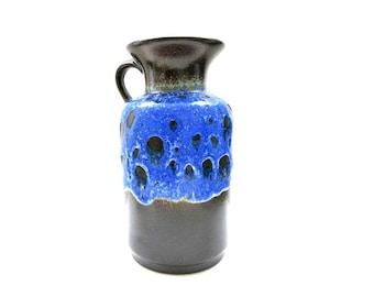 Fat Lava Ceramic Vase /  West German Pottery