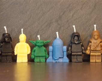 Starwars birthday candles x 6