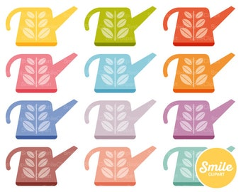 Watering Can Clipart Illustration for Commercial Use | 0310