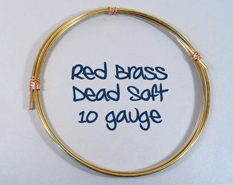 10ga 5ft DS Red Brass Wire