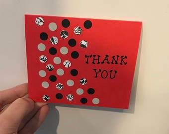 Handmade Thank You Card with Dots