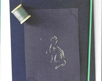 Book calendar cats Marie-Thérèse Saint-Aubin cross-stitch Embroidery - marabou Editions